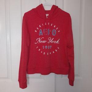 Womens Aeropostale Logo Red Hoodie Sweatshirt